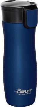 LaPLAYA Thermo Trinkbecher ONE HAND, 0,38 l, blau