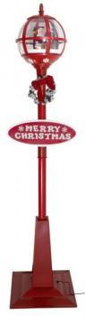 Standlaterne Kugel Motiv Santa