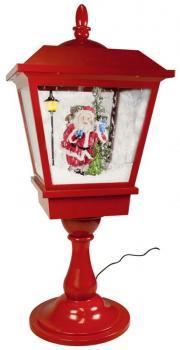 Schneiende Tischlaterne - Motiv Santa