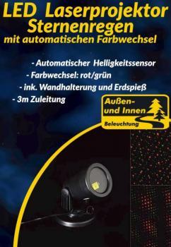 LED-Laserprojektor Sternenregen