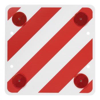 Warntafel Kunststoff 50 x 50 cm mit Rückstrahlern